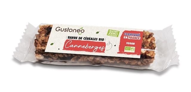 Barre de céréales bio vegan Gustoneo